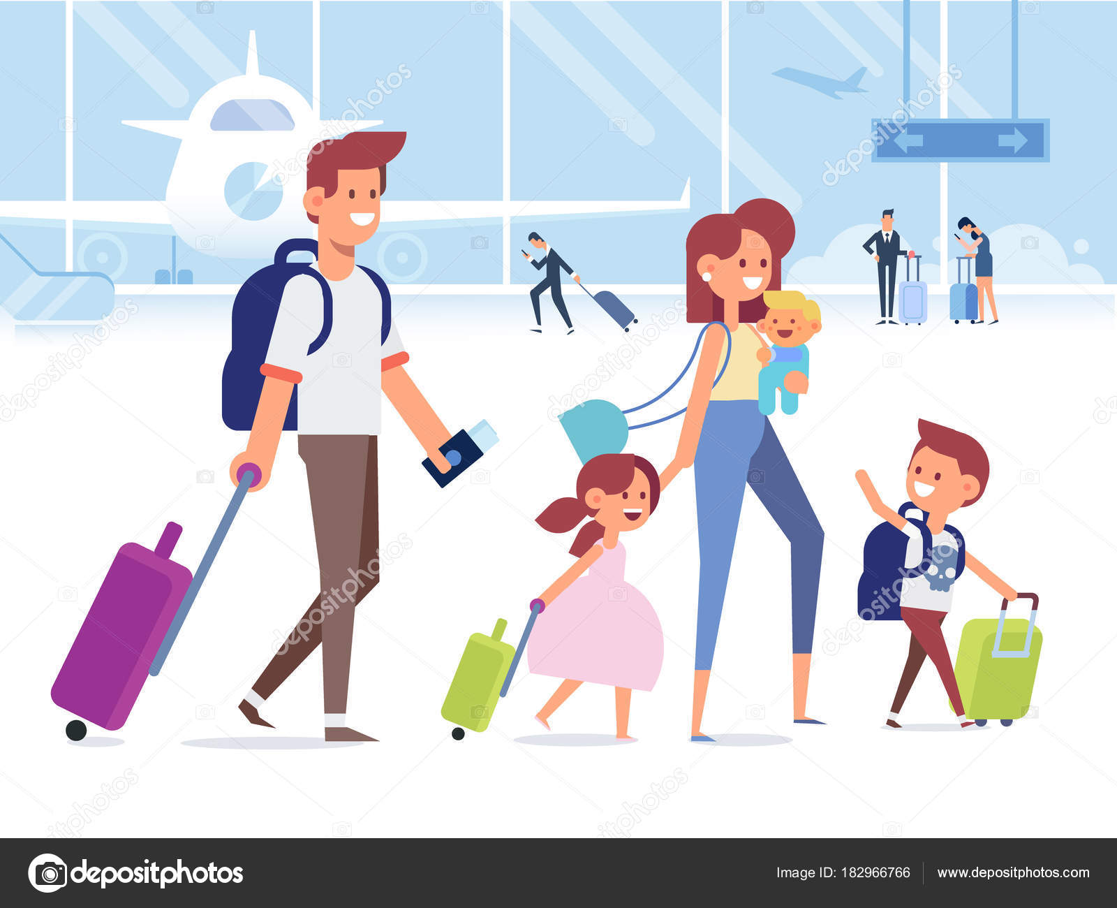 depositphotos 182966766 stock illustration happy family travel together parents